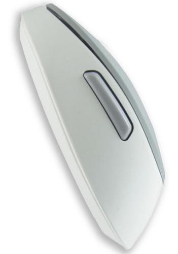 Mouse Ghia GM500 color Blanco con Gris Inalambrico Ergonómico para Pc o Laptop + Batería Incluída - Ecart