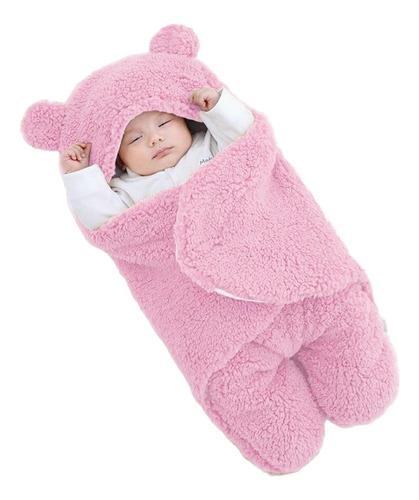 Cobertor Enroladinho Bebê Saco De Dormir Ursinho Forrado