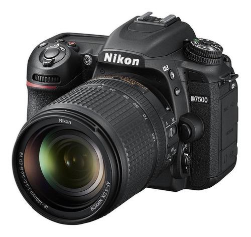 Nikon D7500 18-140mm Ed Vr + 40mm Kit Dslr Color  Negro