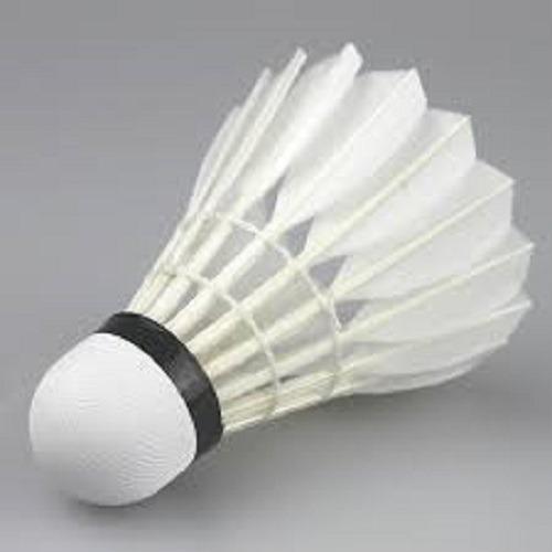 Peteca Badminton Base Cortiça Pena Branca Ganso C/4un