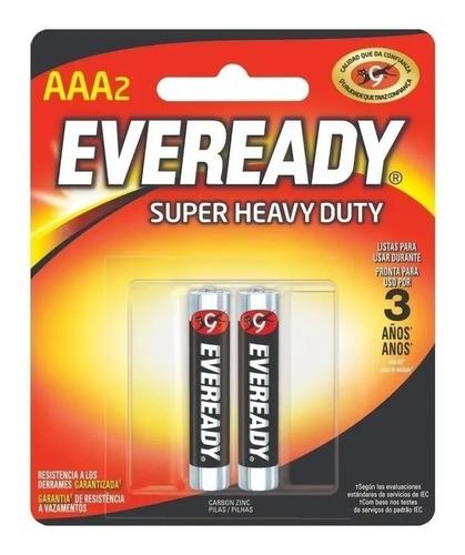 Pila Aaa Eveready Super Heavy Duty 1212 Cilíndrica - Pack De 2 Unidades