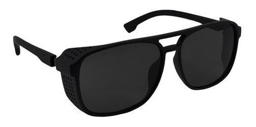 Óculos De Sol Preto Masculino Steampunk Alok Polarizado