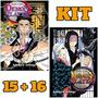 Demon Slayer Vols. 15 16 Kimetsu Kit Panini Mangá Lacrados