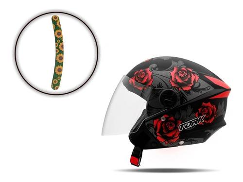 Capacete Aberto Feminino New Liberty 3 Flowers Pro Tork Moto