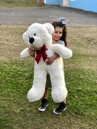Urso Gigante Grande Pelúcia Teddy Bear 90cm - Nacional