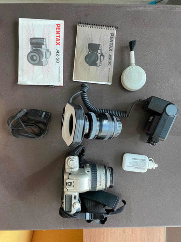 Kit Câmera Analógica Pentax Mz 50 Com Objetiva Macro 100