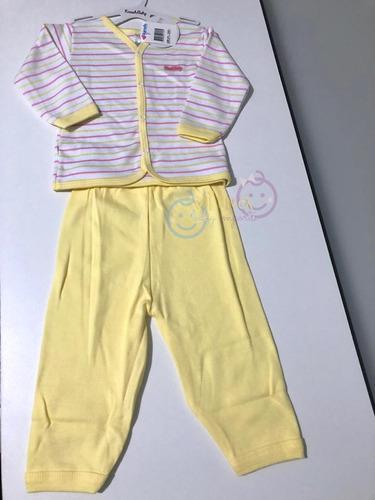 Pijama Kirash Casaco M. Longa + Mijão Branco L. Amare E Rosa