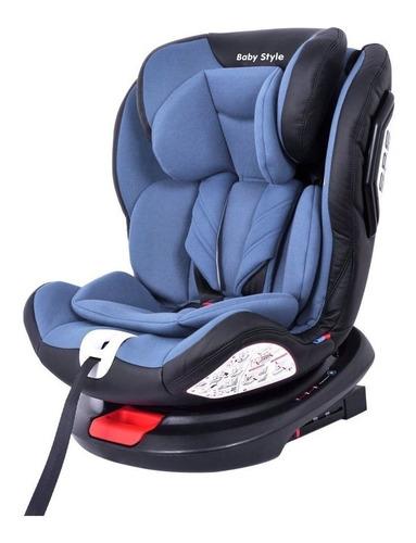 Cadeira Infantil Para Carro Baby Style Rotação 360º Azul