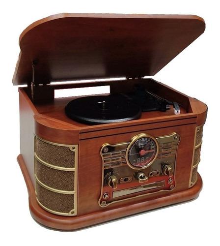 Radiola Moderna Toca Vinil Pendrive Lp Para Presente Pai Avo