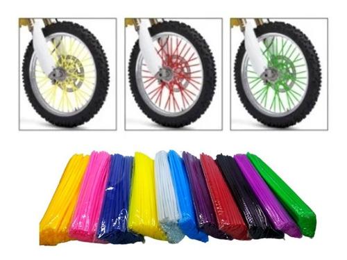 Tubo Decorativo Moto Bicicleta 24cm 72 Peças Cores Diversas
