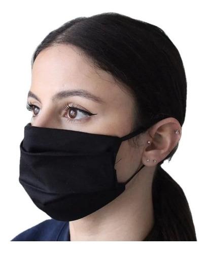 10 Máscaras Tecido Tripla Proteção Lavavel Com Elastico