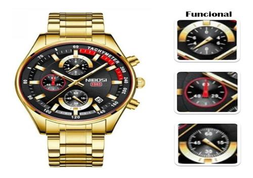 Relógio Masculino Nibosi Quartzo Modelo 2375 Blindado