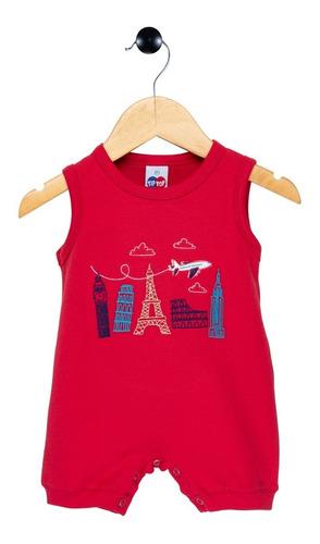 Macaquinho Bebê Regata Europa Tip Top Vermelho 1 04 09 160