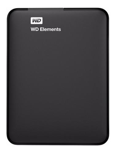 Disco Duro Externo Western Digital Wd Elements Portable Wdbu6y0020bbk 2tb Negro