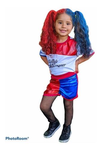 Fantasia Da Arlequina Infantil Esquadrão Harley Quinn
