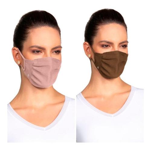 Kit 2 Máscaras De Proteção Lupo Fit Antimicróbica Lavável