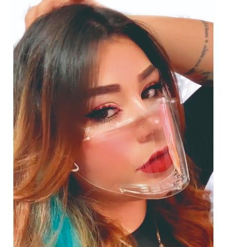Mascara Acrilica Epi Transparente Facial Protetor Facial