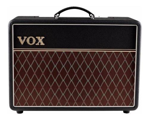Amplificador Vox Custom Series Ac10c1 Combo Valvular 10w Preto E Marrom 230v