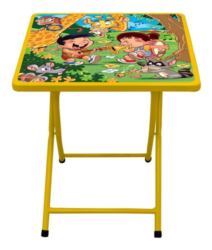 Conjunto Mesa Infantil Fantasia C/ 2 Cadeiras Zoo Animal