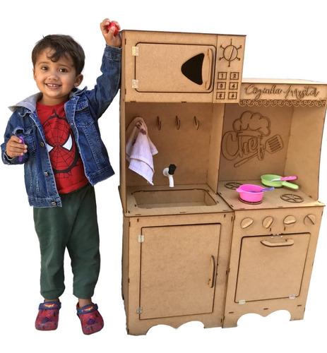 Cozinha Infantil Completa Modulada Brinquedo Desmontado Mdf