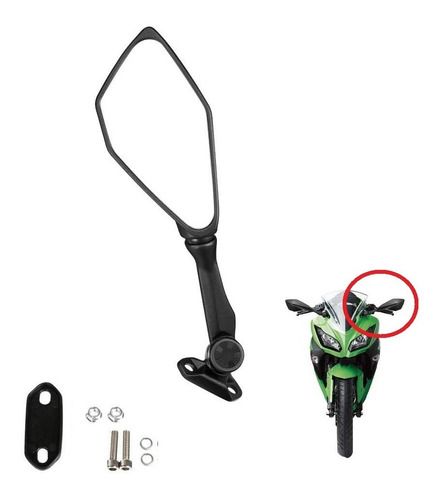 Espejo Izquierdo Abatible Moto Ninja Cbr Rs200 R15 Gixxer Sf