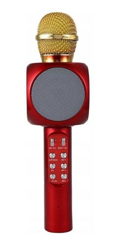 Microfone S/fio Bluetooth  Karaokê  Speaker  Usb  Led  Preto