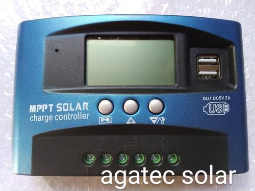 Controlador Solar 100 Amperes 12/24 Volts Usb Lcd