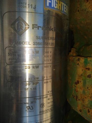 Motor Bomba Sumergible Franklin 5.5 Hp Trifasico