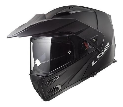 Casco Para Moto Rebatible Ls2 Metro Evo Solid Matt Black Talle Xl
