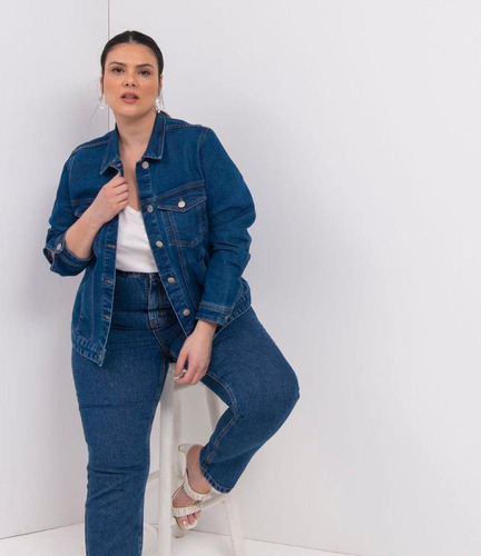 Jaqueta Jeans Confort Curve E Plus Size