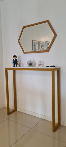 Mesa De Arrime Recibidor Marmol.de Carrara + Espejo