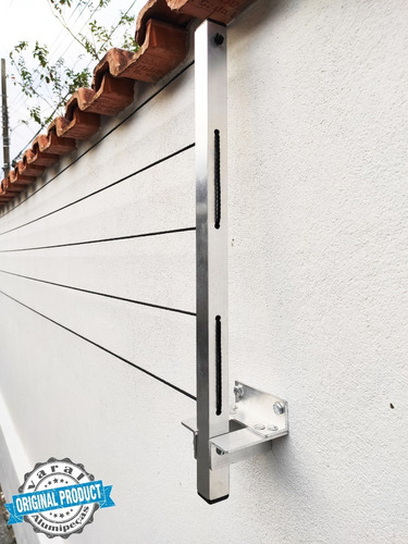 Varal Roupa Alumínio Articulado Dobrável Parede Muro 5cordas
