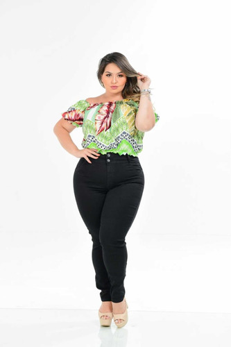 Calça Jeans Feminina Plus Size Cintura Alta Na Promoção