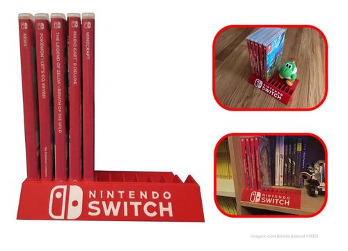 Suporte Nintendo Switch Guardar Organizar Jogos Estande