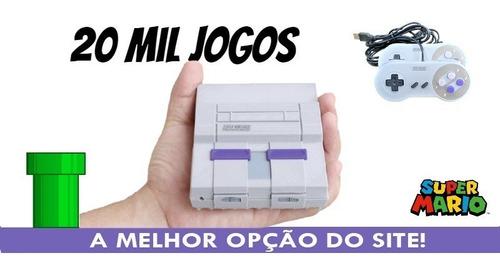 Mini Super Nintendo 20 Mil Jogos 2 Controles Envio Imediato