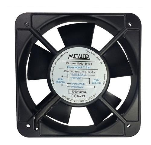 Ventilador Cooler 150mm 110v / 220v Corpo Aluminio Metaltex