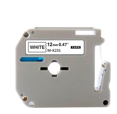 Fita Plástica M-k231 Para Rotuladora Brother