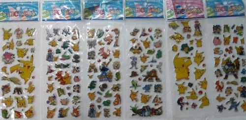 Stickers Pegotines Con Relieve De Pokemon