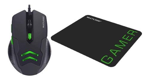 Kit Mouse Gamer + Mousepad Multilaser Mo274