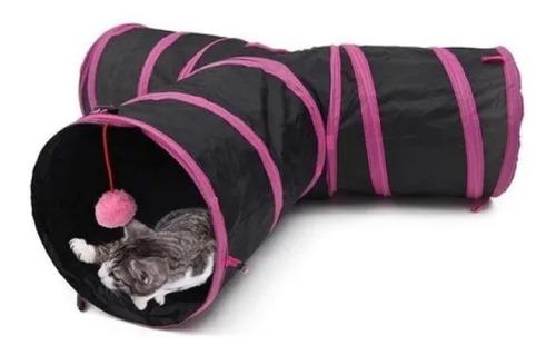Túnel T Para Gato Pet Dobrável 3 Entradas