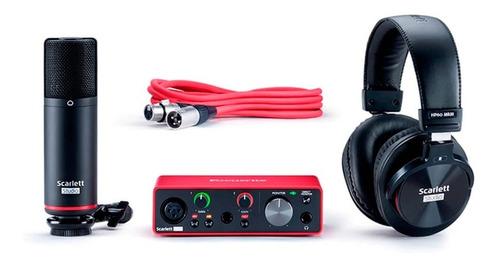 Kit Interface Focusrite Solo 3º Geração Com Fone E Microfone