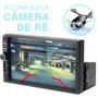 Multimídia Slim Encaixe 1 Din Mp5 Universal C/ Câmera De Ré