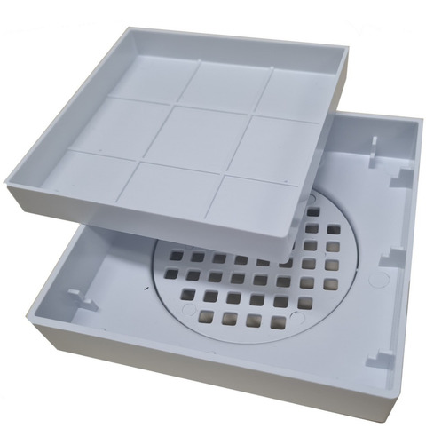 Ralo 10x10 Oculto Seca Piso/porcelanato Inteligente Branco