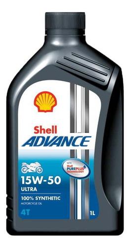 Oleo De Moto Shell Advance 15w50 Ultra 1l