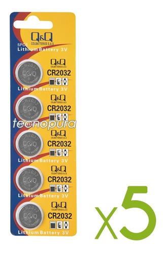 Batería Cr2032 Pila De Litio 3v Marca Q&q  Pack X5 Unidades