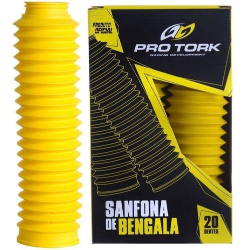 Sanfona De Bengala Xtz 125 Nxrt 125/150 Pro Tork Amarelo