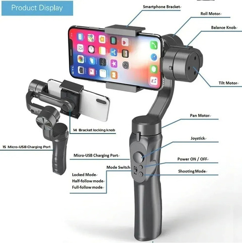 Estabilizador H4 3 axis Para Smartphone Gimbal Ios E Android