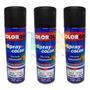 Spray Automotiva Colorgin Preto Fosco 300ml 3un