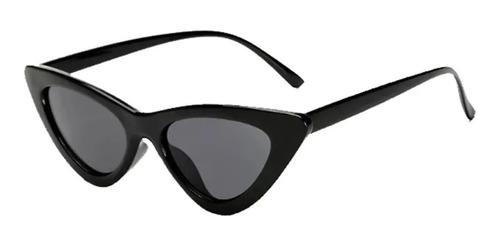 Óculos Gatinho De Sol Sem Grau Retrô Blogueira - Preto