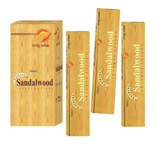 Incenso Massala Nikhil´s Sandalwood  3 Caixas De 15 Varetas